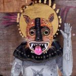Татуированные мистические создания в живописи Эдгара Санера
