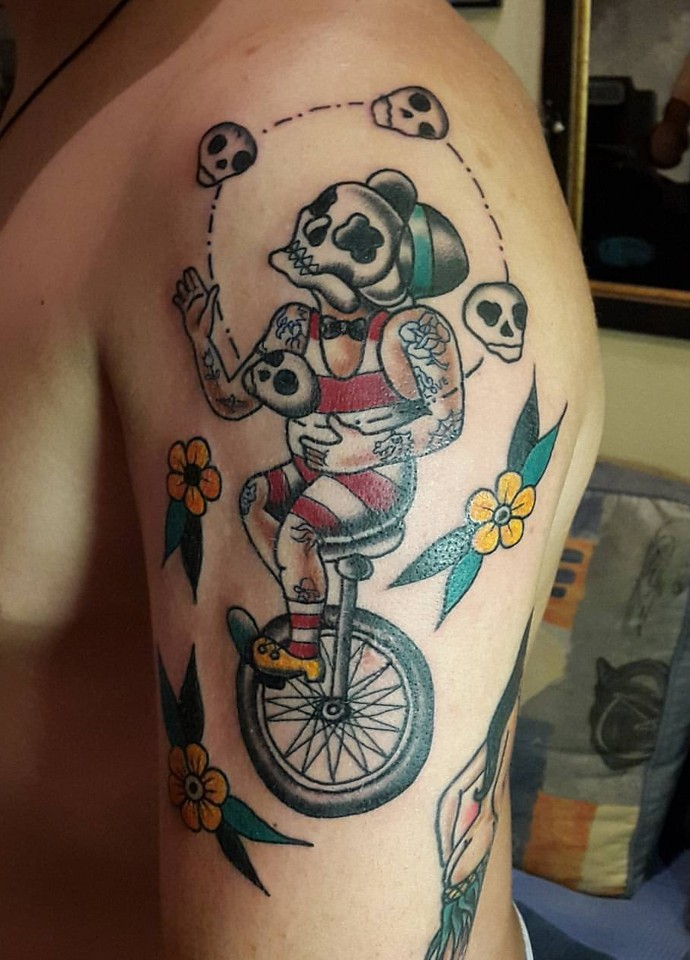 Дмитрий Бухров - татуировки в стиле олдскул
