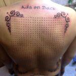 Новый подход к татуировке и рекламе – реклама на спине