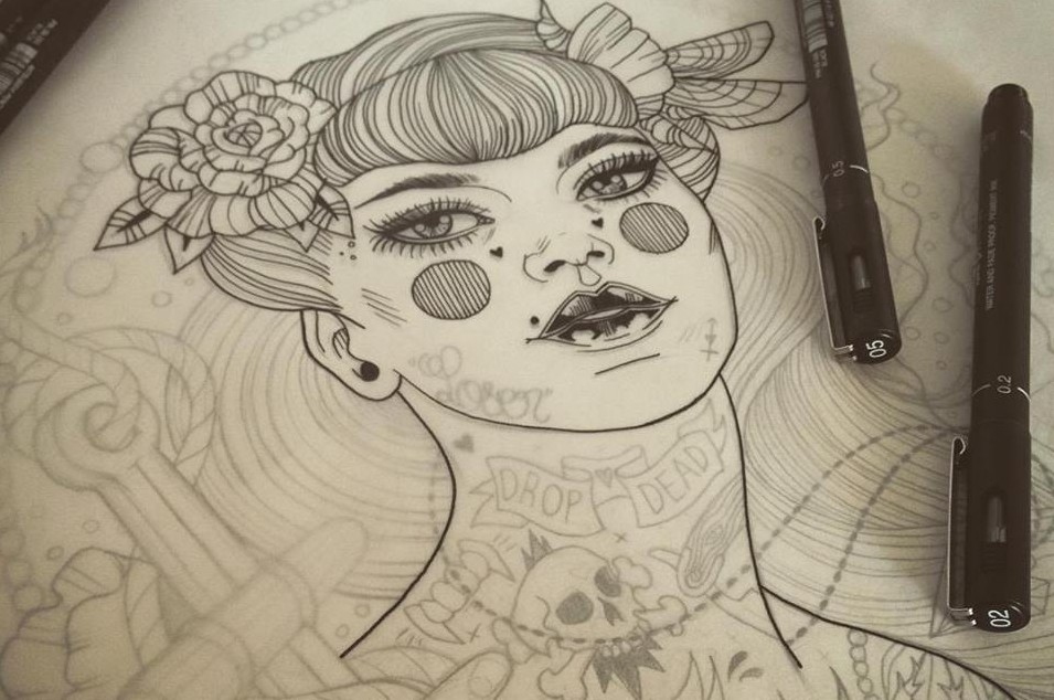 Карандашные рисунки Лиз Клементс (Liz Clements)