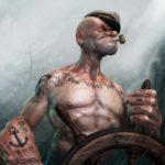 Татуированный Моряк Попай в 3d или идеальный шкипер
