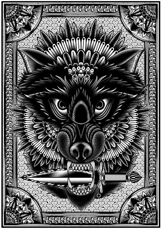 голова волка Tom Gilmour