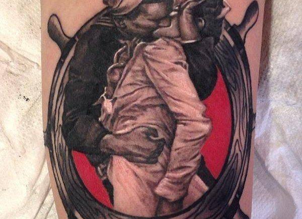 поцелуй: безоговорочная капитуляция, татуировка, matteo pasqualin