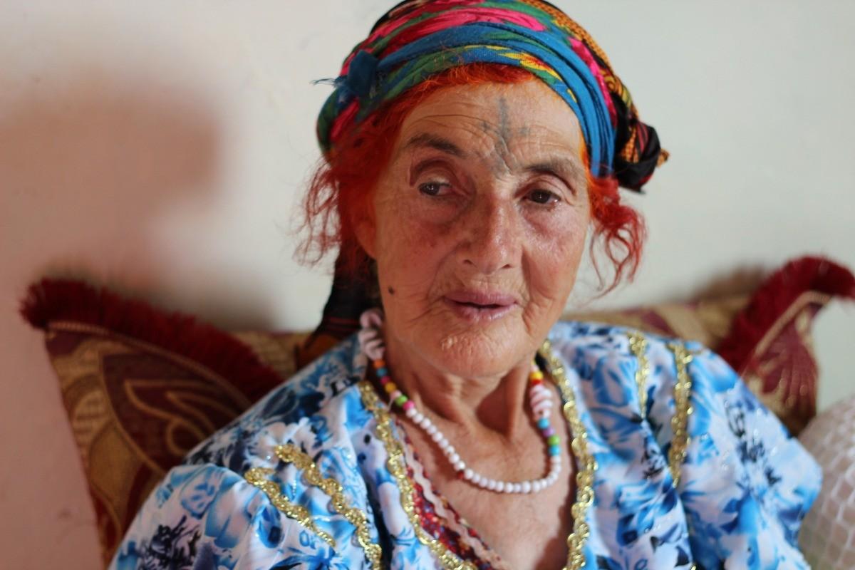 алжир, татуированные бабушки, африка, этническая татуировка