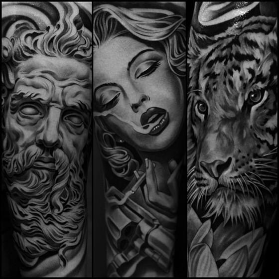 татуировки картинки черно белые