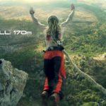Мировой рекорд: прыжок на крюках со свободным падением, высота экзита: 230 метров