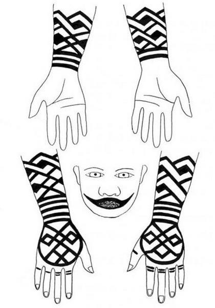 айну, айны, традиционная татуировка