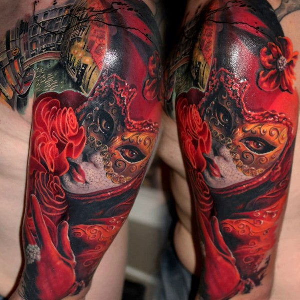 moni marino, мони марино, Intenze, Cheyenne, портретная татуировка, цветная татуировка, татуировка реализм, итальянский татуировщик