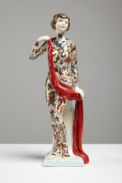 фарфоровые статуэтки с татуировками bbb
