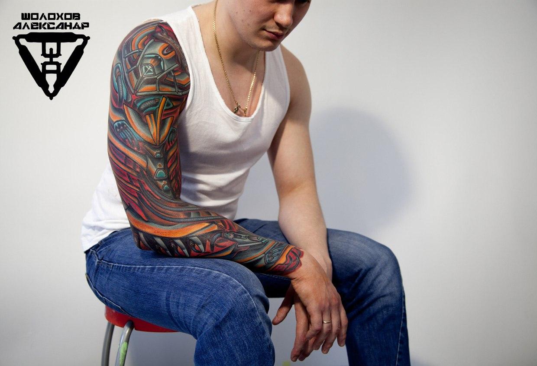 биомеханика: мастер татуировки Александр Шолохов