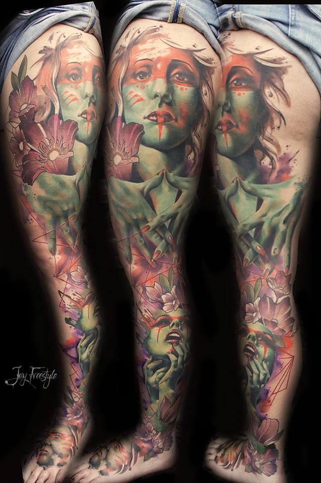 Акварельные татуировки Jay Freestyle
