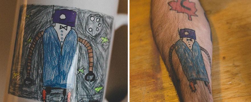 детские татуировки Keith Anderson