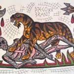 Тату-флеши Диего Бранди, выполненные в Римской технике мозайки