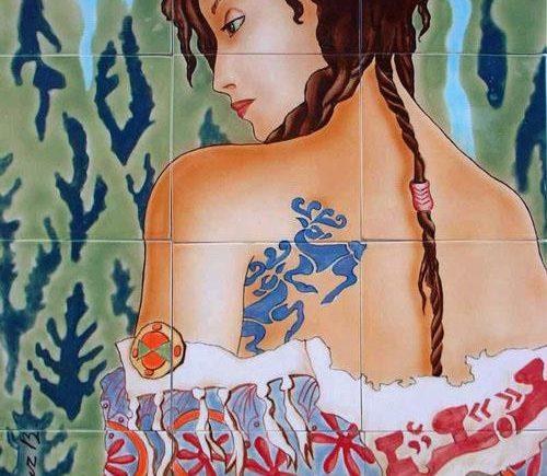 Принцесса Укока в представлении художника