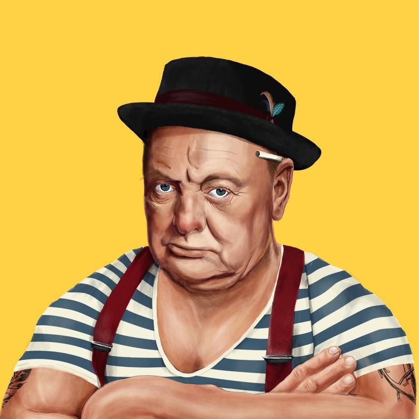 Черчилль с татуировками