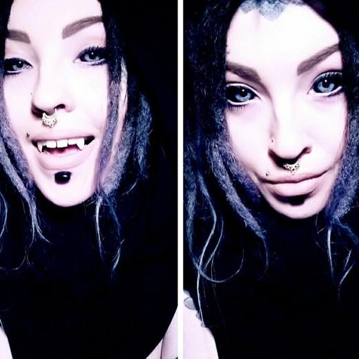 Магдалена Майер - татуировка на глазном яблоке