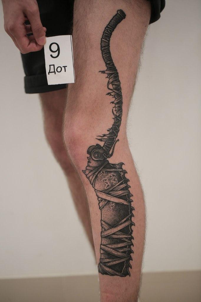 Дмитрий Яковлев: лучшая татуировка в стиле дотворк