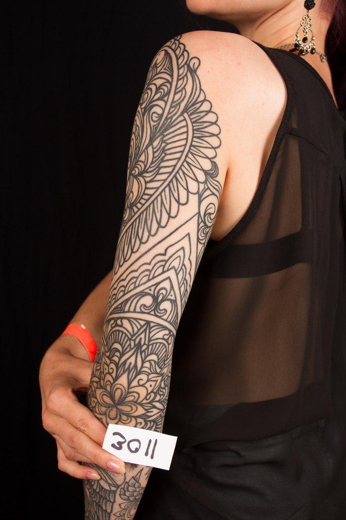 лучшая орнаментальная татуировка 5-го сибирского тату-фестиваля 2015