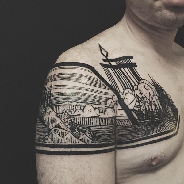 черно-белые татуировки Thieves of Tower