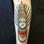 В Индии произведён арест за татуировку богини Йеламма