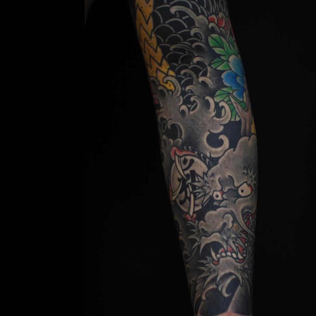 Сергей Буслаев (японская татуировка, дракон)