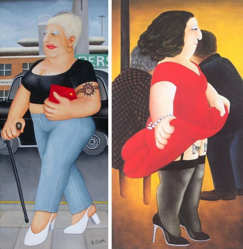 татуировки в живописи Берил Кук (Beryl Cook)