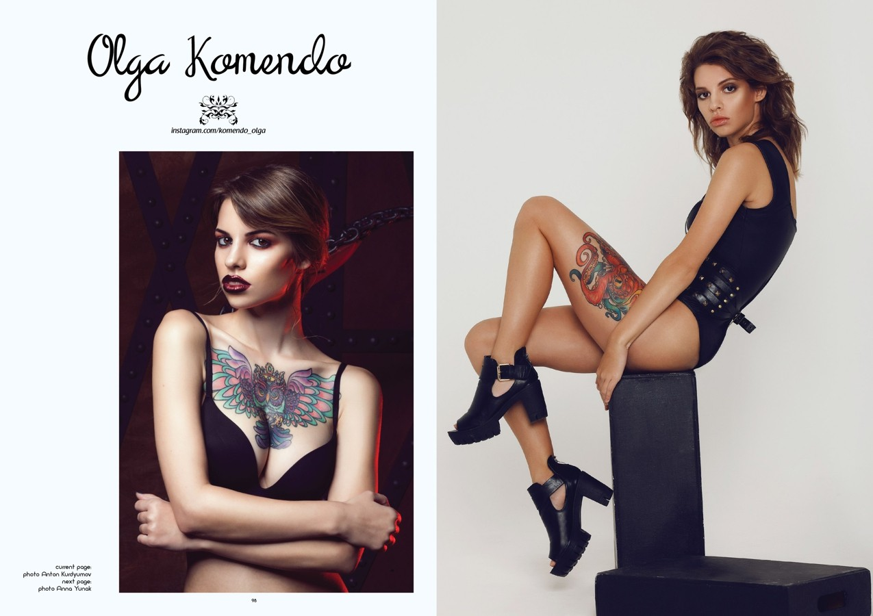 книга «I'm Tattoo Model», Ольга Комендо