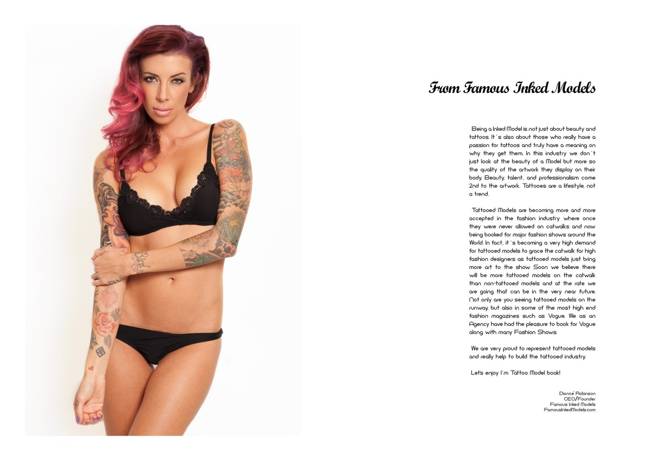 книга «I'm Tattoo Model», Dionce Robinson