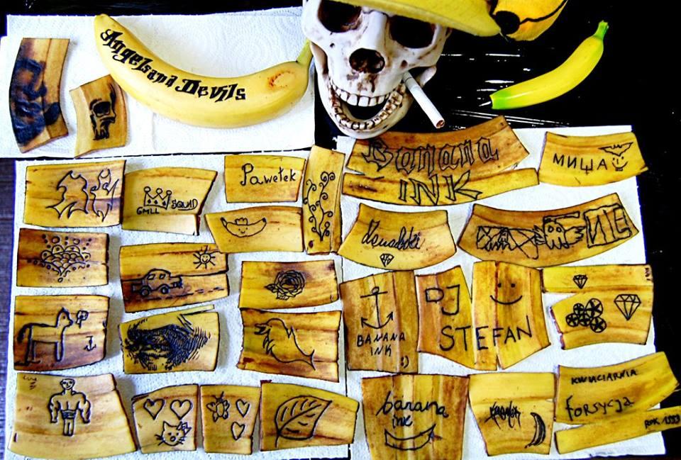 Banana-Ink - татуировки на бананах