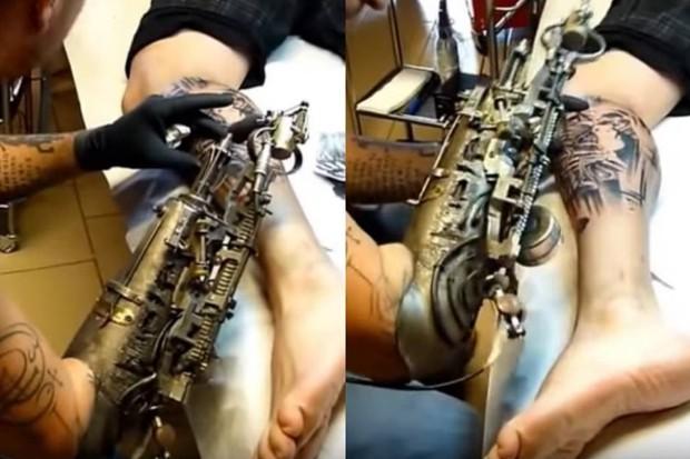 протез для татуировщиков