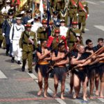 Войны Маори приняли участие в военном параде в честь Дня взятия Бастилии