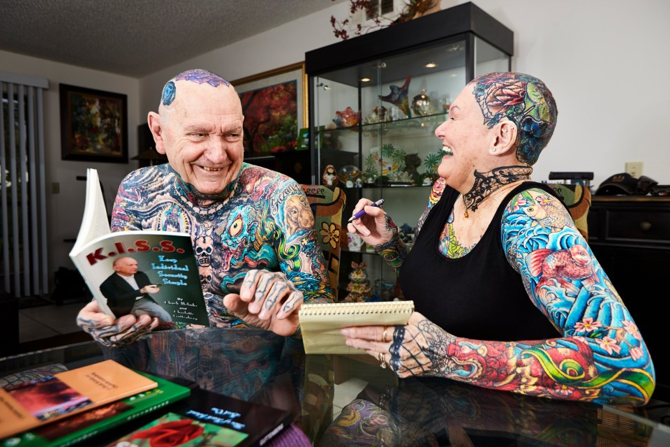 самая пожилая татуированная пара