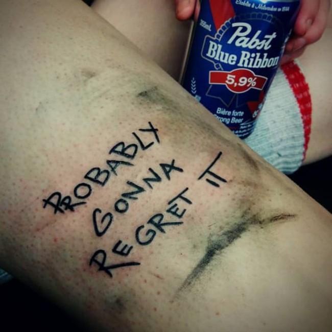 Магалуф, татуировка, я пожалею об этом
