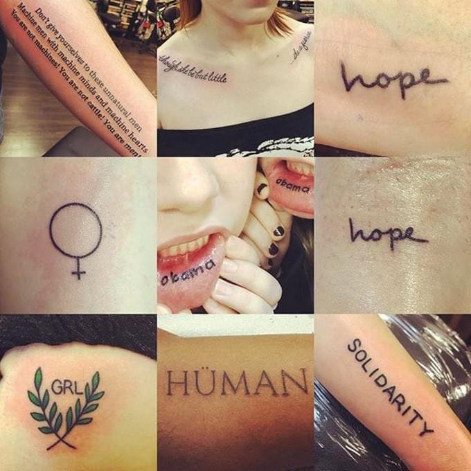 феминистские татуировки