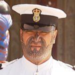 Первый в мире офицер ВМФ с традиционной татуировкой Та-Моко на лице