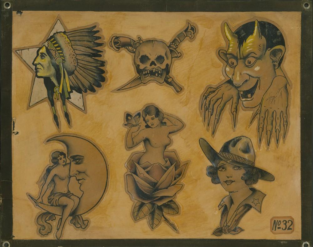Боб Уикс: тату флеш-сет циркового татуировщика