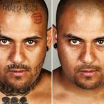 Ретушированые татуировки гангстеров: фото-проект Стива Бартона