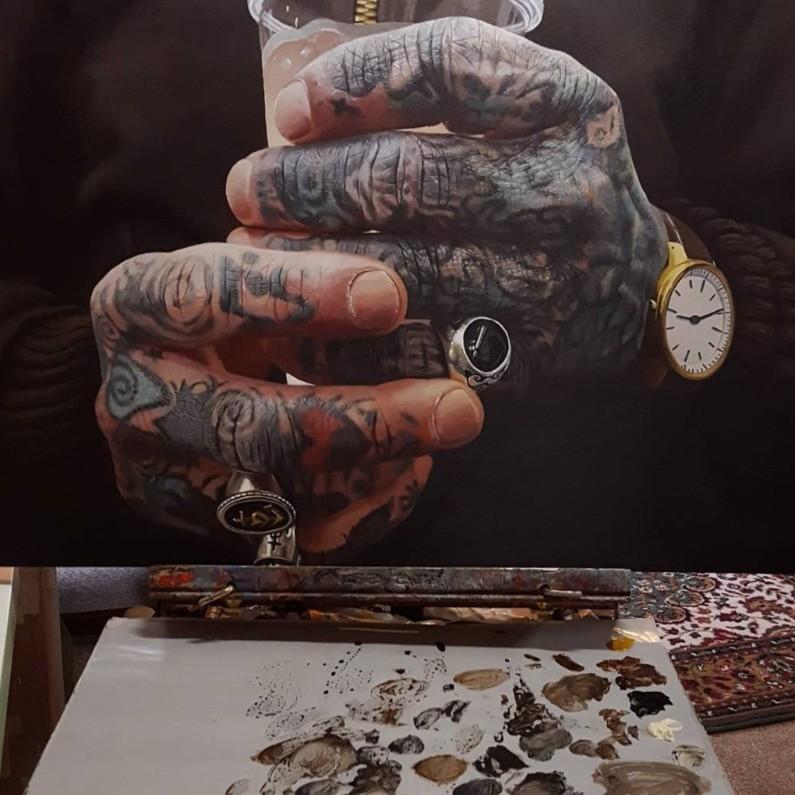 фотореализм, гиперреализм, татуированные руки, jackee sandelands-strom