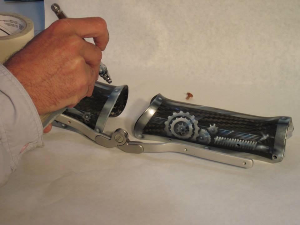 Prosthetic Ink, протезированные конечности, протезы, аэрография