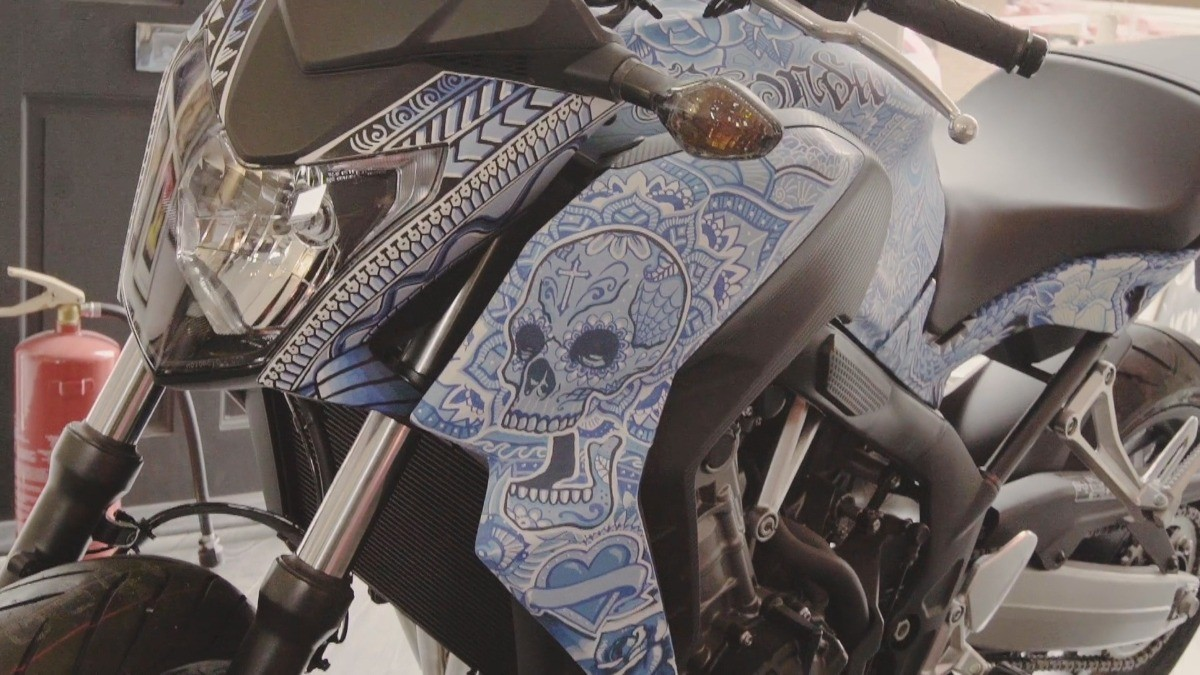 Дэн Голд, Dan Gold, Honda, Motorcycle Live Show, мотоцикл, роспись мотоциклов