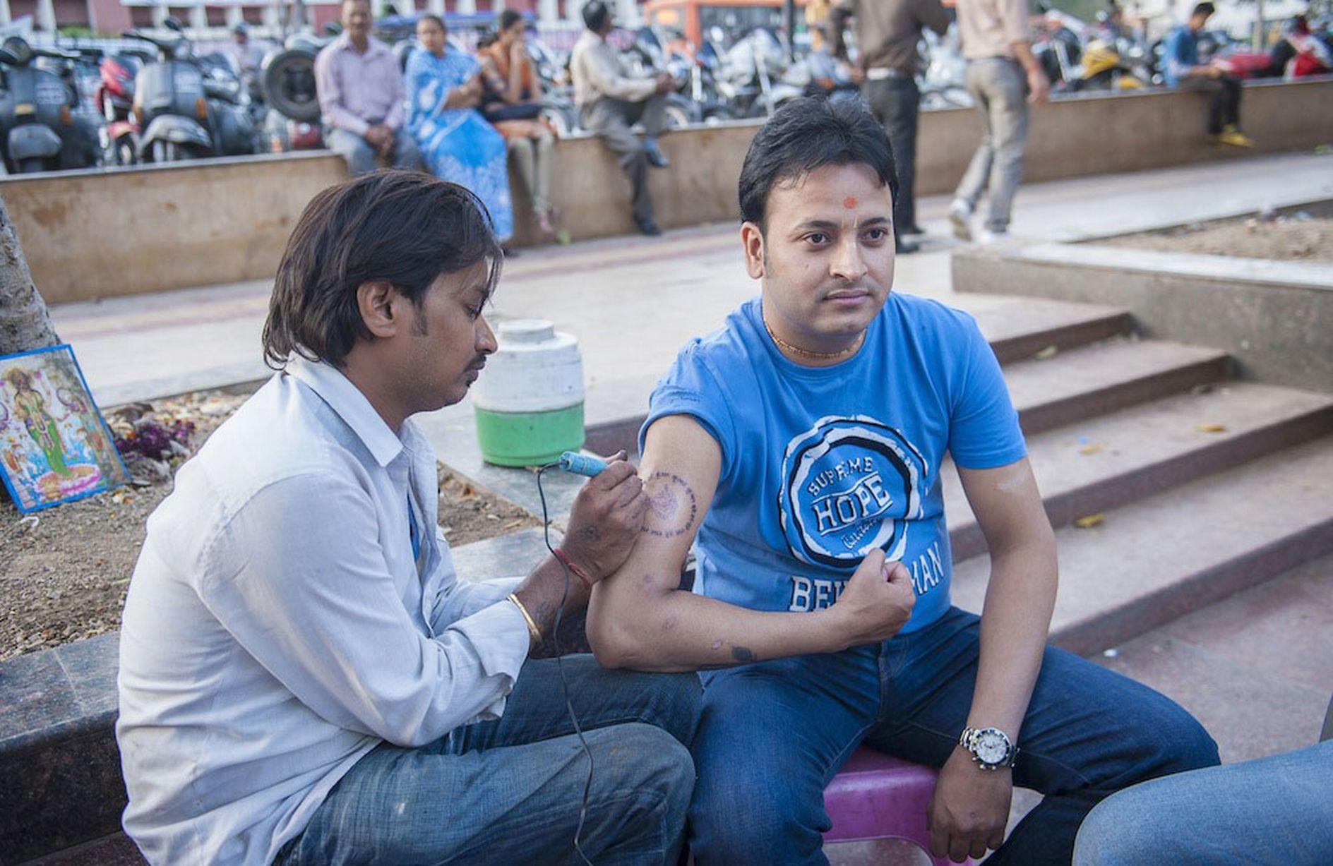 уличная татуировка, Индия, тату-индустрия, асептика, антисептика, татуировка в Индии, Дели