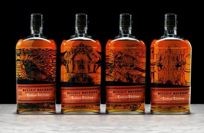 bulleit, виски, бурбон, дизайн бутылки, маркетинг, целевая аудитория, продукция в стиле тату, алкоголь