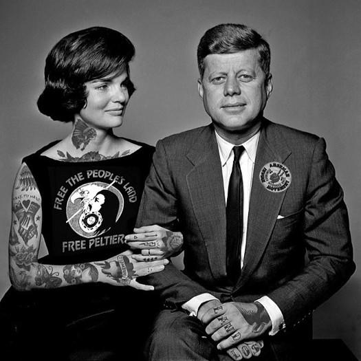 Джон Кеннеди, Жаклин Кеннеди, шайенн рэндалл, татуированные знаменитости, фотошоп, cheyenne randall, сиэтл