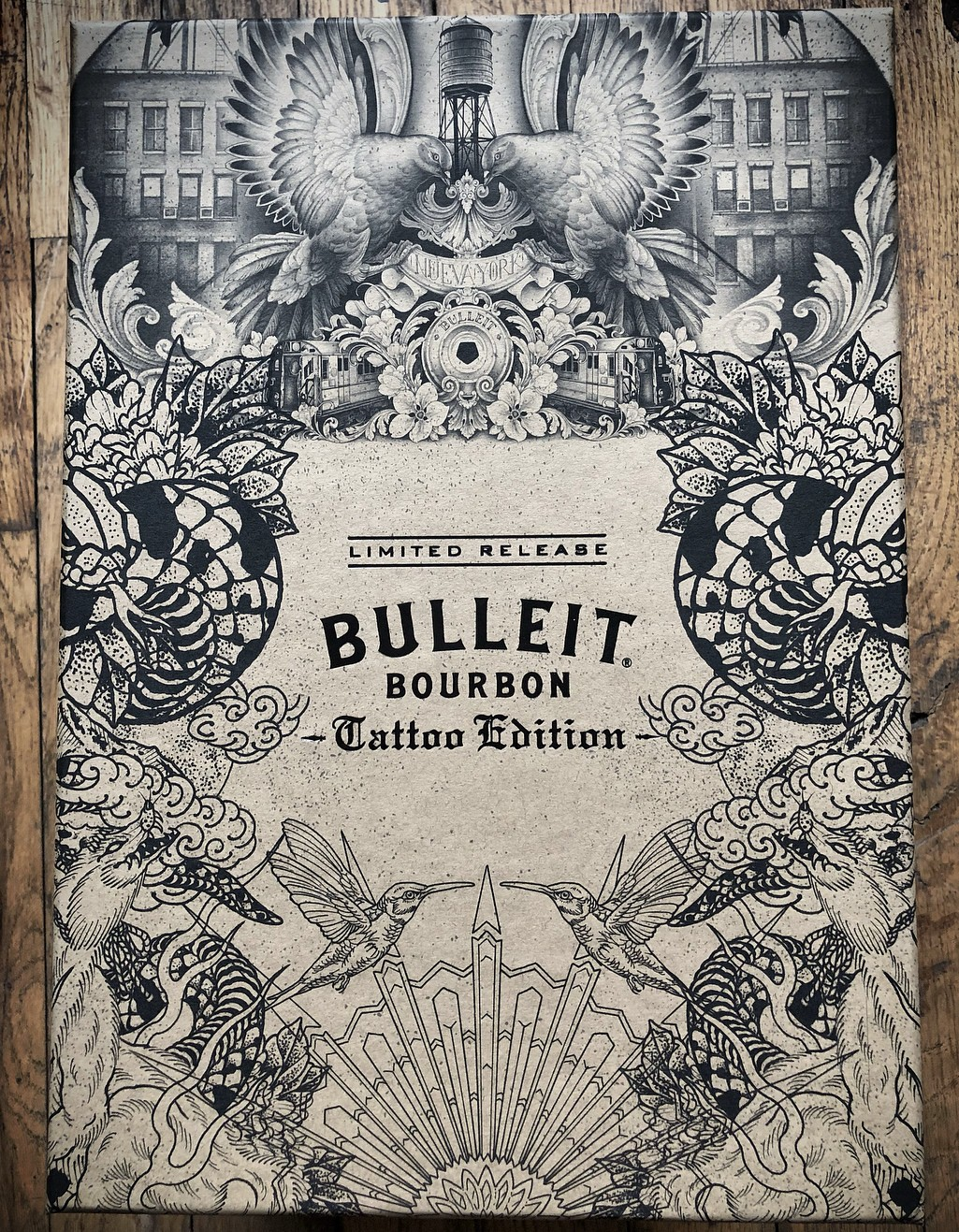 bulleit, whiskey, bourbon, bottle design, marketing, target audience, tattoo style products, alcohol