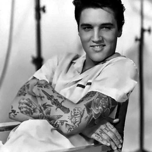 Элвис Пресли, Elvis Presley, шайенн рэндалл, татуированные знаменитости, фотошоп, cheyenne randall, сиэтл