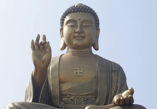 свастика, нацистская символика, будда, буддизм, никита поздняков, омский художник