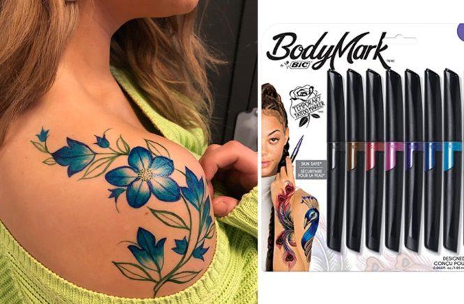 bic, bodymark, тату-маркеры, временные татуировки, miryam lumpini, фломастеры для бодиарта, бодиарт, рисование на коже