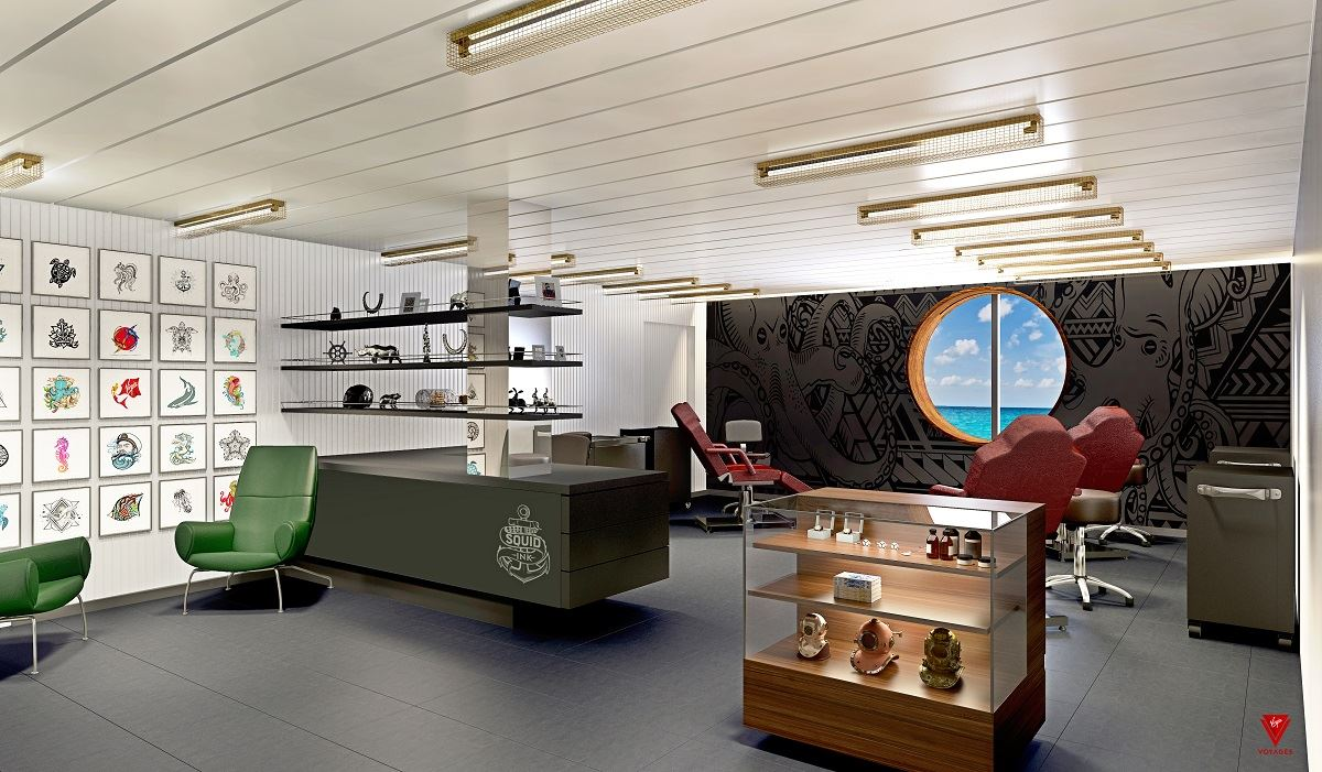 Virgin Voyages, Squid Ink, студия татуировки на корабле, Ink Master, World Famous Tattoo Ink, Лу Рубино, Ричард Брэнсон, Scarlet Lady