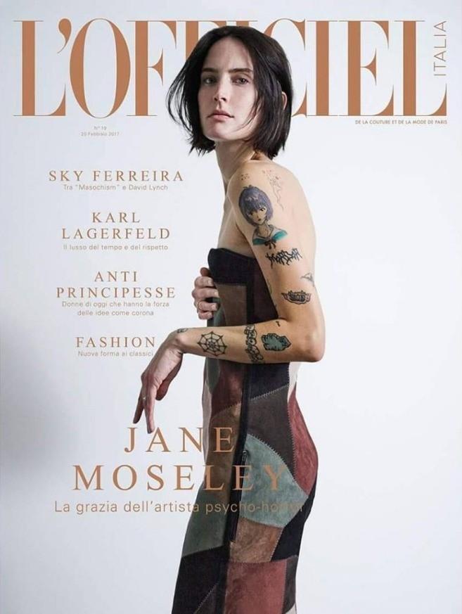 Джейн Моусли, супермодель, фотомодель, фильмы ужасов, татуировки моделей, модельный бизнес