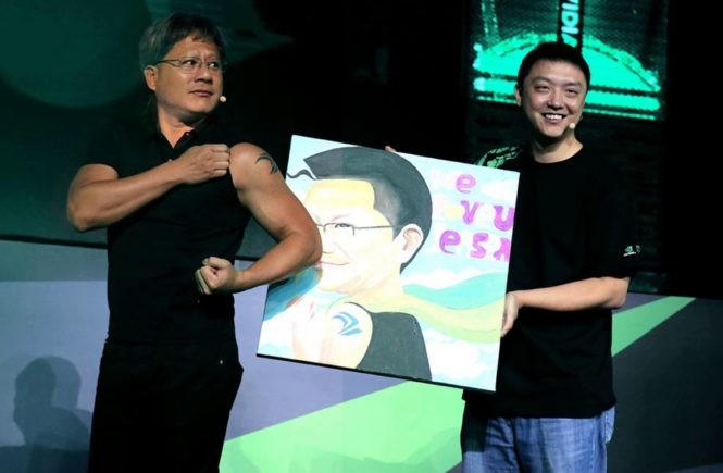 Nvida, Дженсен Хуанг, глава компании, корпоративные татуировки, бизнесмен года, успех, новый бизнес, компьютерные игры